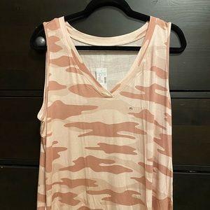 Maurice's Pink Camo, sleeveless shirt. NWT